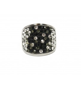 Ring with crystals Black...