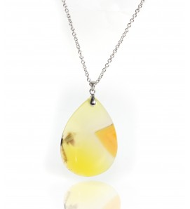 Yellow Agate Pendant with...
