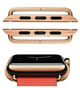Rose Gold Stainless steel 316L connector For Apple Watch - 2Pcs