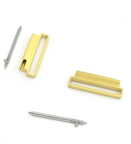 Stainless connectors For Samsung and 20mm Watch Gold - 2Pcs