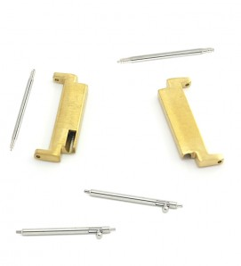 Stainless steel connectors For Samsung Watch or 20mm Gold - 2Pcs