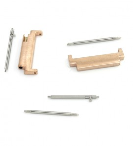 Stainless steel connectors For Samsung Watch or 20mm Rose Gold - 4Pcs