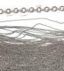 Oval chain 316L - 1m
