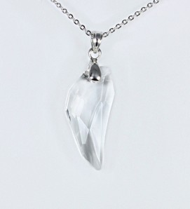 Pendant with clear crystal
